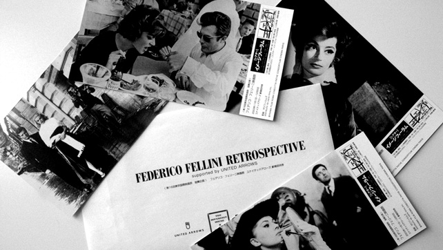 "[ UNITED ARROWS LTD. ] ""federico fellini retrospective"" promotion"